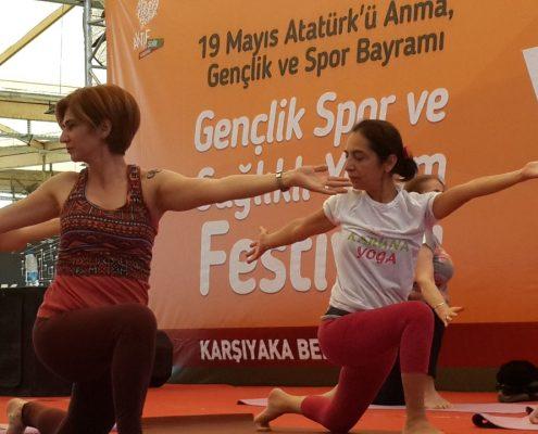Gençlik, Spor ve Sağlıklı Yaşam Festivali karuna yoga